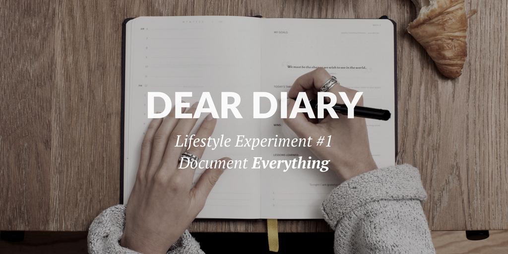 "Experiment Kickoff: ""Dear Diary"" Edition"
